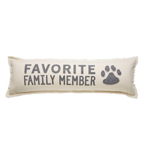 Favorite Family Member Canvas Pet Long Pillow