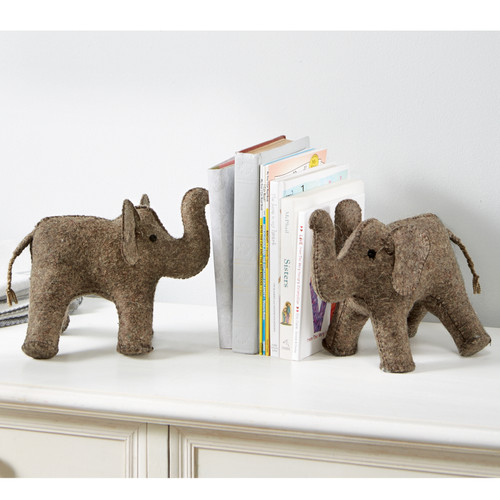 FELT ELEPHANT BOOKEND