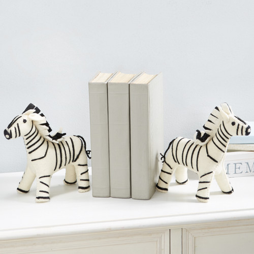 Felt Zebra Bookend