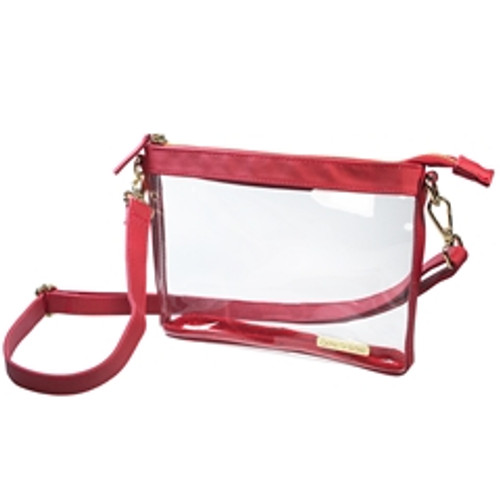 Small Red Clear PVC Crossbody