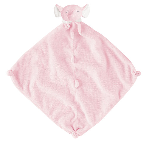 Pink Elephant Blankie Lovie