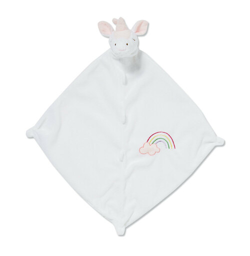 White Unicorn Blankie Lovie