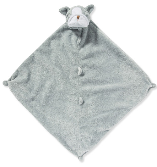 Grey Bulldog Blankie Lovie