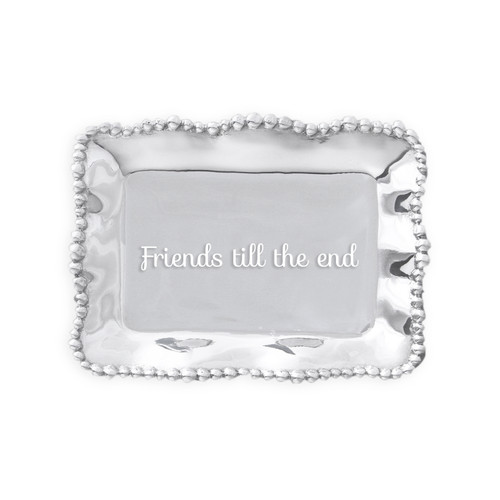 GIFTABLES Organic Pearl rect engraved tray- Friends till the end