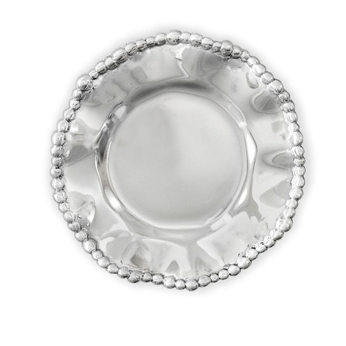 Giftables Organic Pearl Rnd Wine Plate Plain
