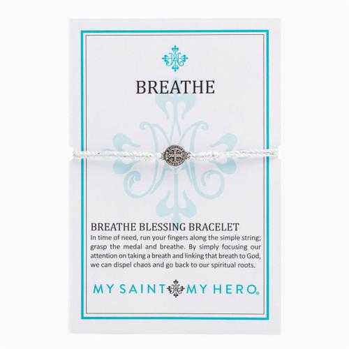 Breathe Blessing Bracelet  - Metallic Silver/Silver