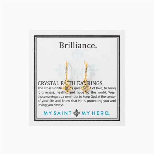 Brilliance Crystal Faith Earrings - Gold