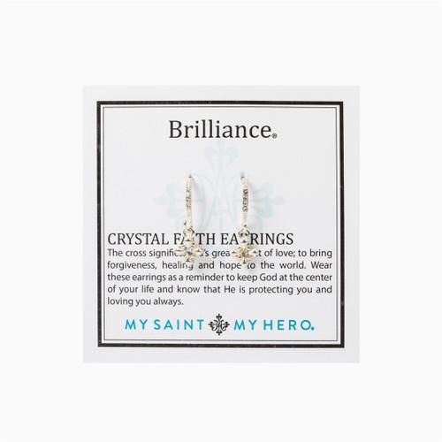 Brilliance Crystal Faith Earrings - Silver