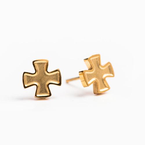 Faith Stud Earrings - Gold