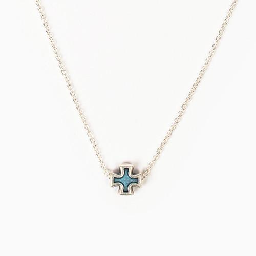 Faith Petite Necklace - Blue/Silver