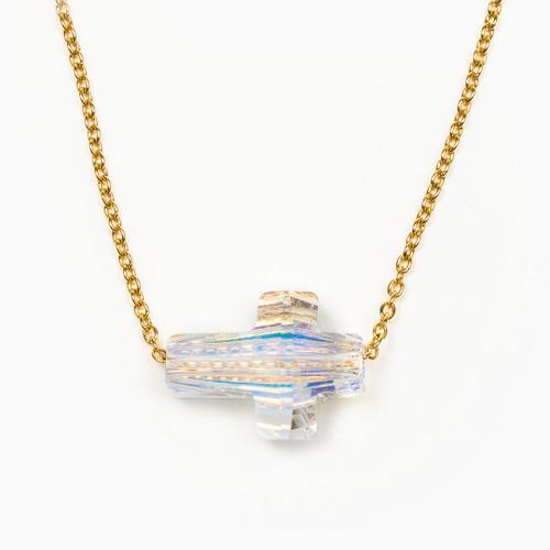 Heavenly Sky Necklace - Aurora Borealis/Gold