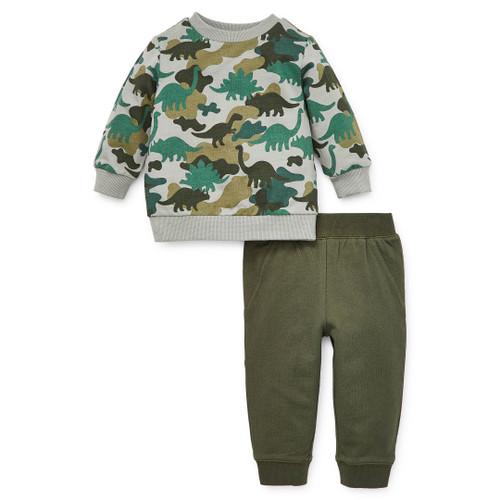 Dino Camo 2pc Sweatshirt Set