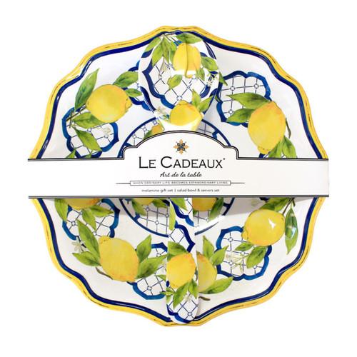 Salad Bowl and Servers Gift Set- Palermo