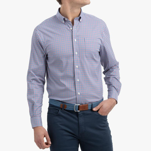 Huey Gulf Blue Prep-Formance Button Down