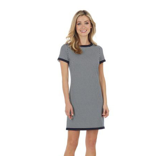 Parker Houndstooth Navy Dress