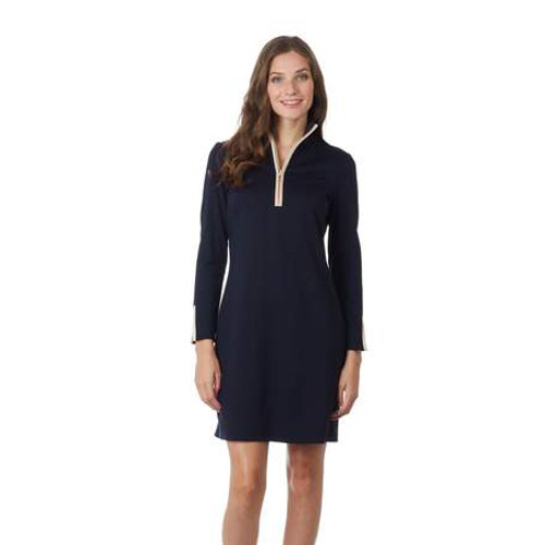 Dark Navy Cream Anna Dress