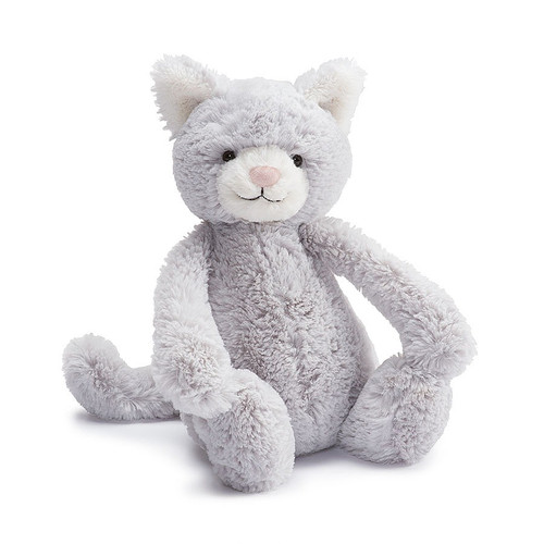 Bashful Grey Kitty Small-BASS6KYN