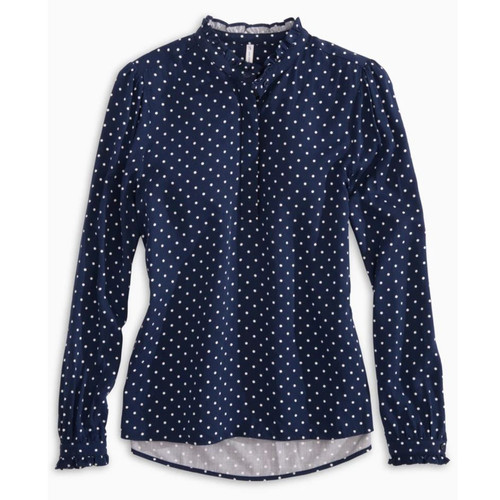 Leslie Top Nautical Navy