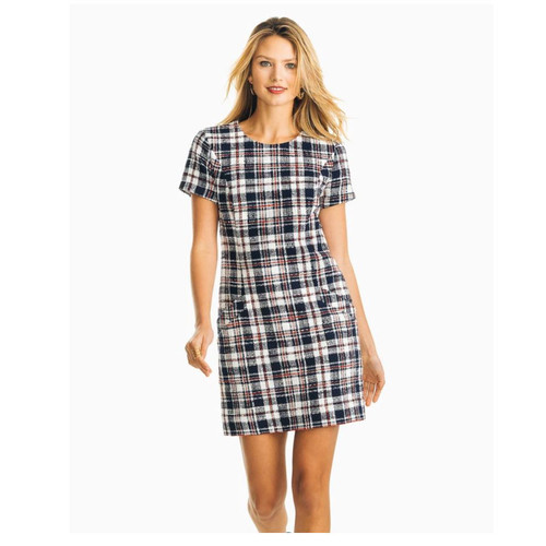 Paislee Naut Navy Tweed Dress
