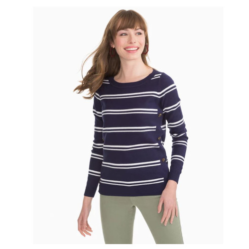 Jessa Navy Striped Sweater