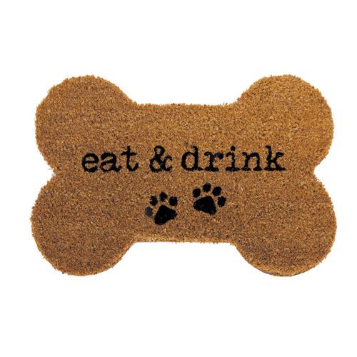 EAT & DRINK BONE SHAPED MAT