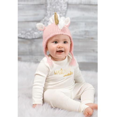 Pink Unicorn Knit Hat