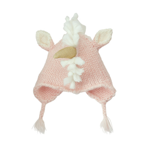 Pink Unicorn Knit Hat