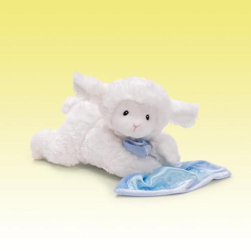 """Lena Lamb Sound Toy Blue, 9"""""""