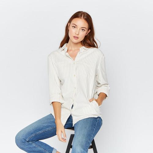 Ivory Grey Stripe Drexel Shirt