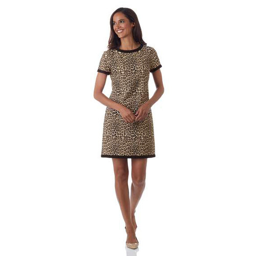 Mini Leopard Camel  Parker Dress