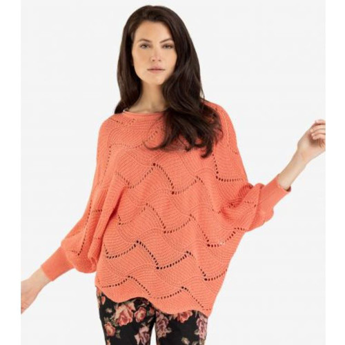 Boat- Neck Salmon Sweater