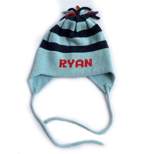 Light Blue/Navy/Red Personalized Stripe Hat