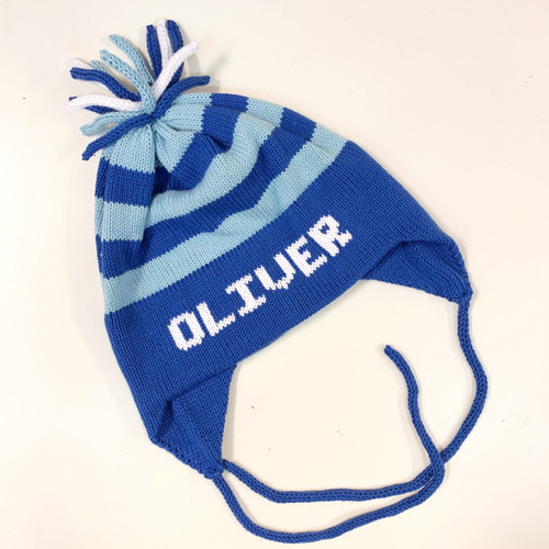Royal/Light Blue & White Stripe Flaphat
