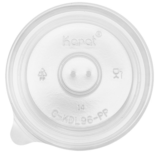 96mm Rim PP Food Container Flat Lid No Hole 1000ct