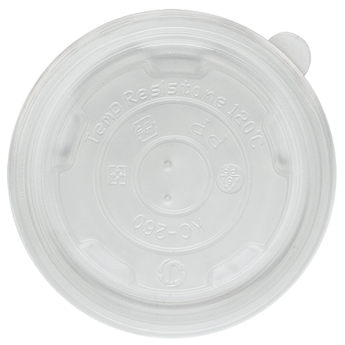 95mm Rim PP Food Container Flat Lid No Hole 1000ct