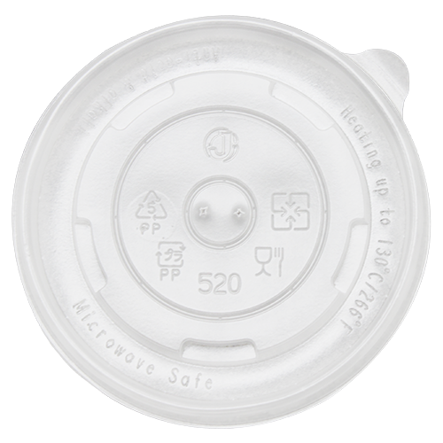 112mm Rim PP Food Container Flat Lid No Hole 1000ct