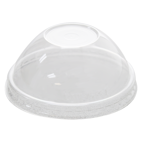 76mm Rim PET Food Container Dome Lid No Hole 1000ct