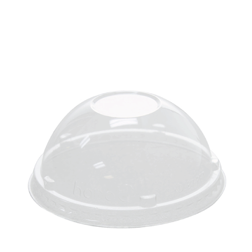 87mm Rim PET Food Container Dome Lid No Hole 1000ct