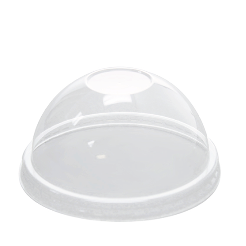 95mm Rim PET Food Container Dome Lid No Hole 1000ct