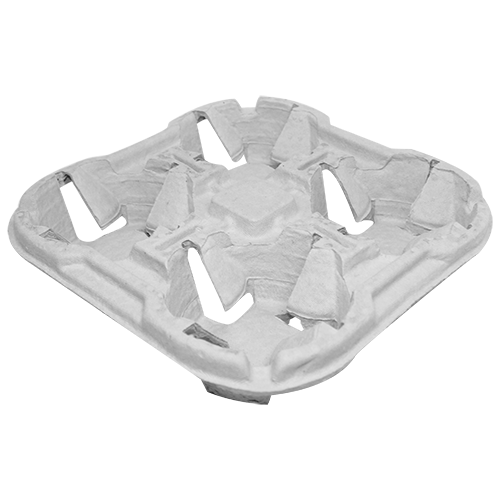Pactiv Paper 4 Cup Holder for 8-46oz Cups 132ct