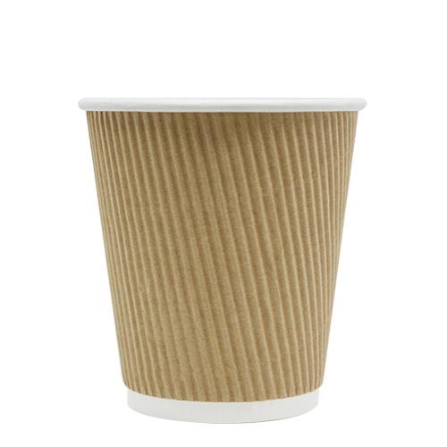 Karat 10oz Ripple Paper Hot Cup - Kraft 62mm 500ct