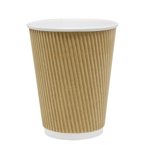 Karat 12oz Ripple Paper Hot Cup - Kraft 62mm 500ct