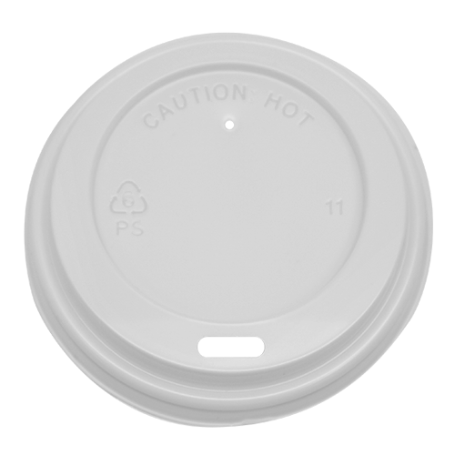 Karat 8oz Sipper Dome Lids - White 80mm 1000ct