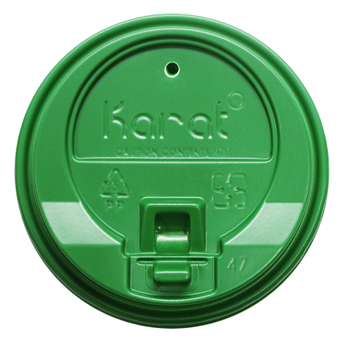 Karat 10-24oz Enclosure Sip Lids Green 90mm 1000ct