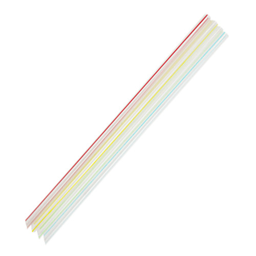 """9"""" Jumbo Straws 5mm Mixed Color Striped 8000ct"""