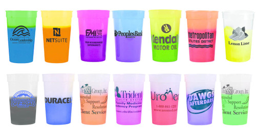 Custom Plastic Magic Color Changing® / Solid Color Stadium Drink Cups