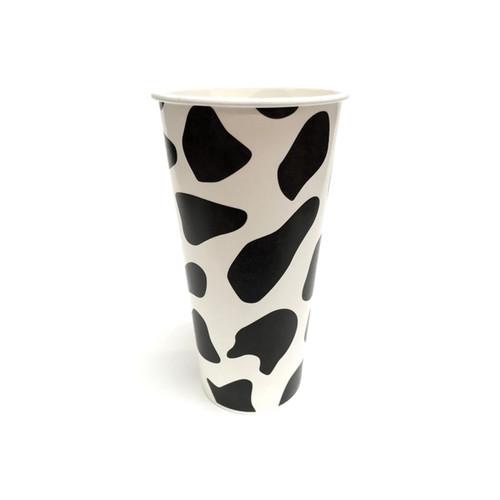 32oz Cow Print Paper Milkshake Drink Cups 600ct