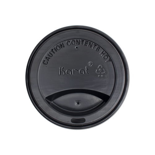 10-24oz Hot Sipper Dome Lids - Black 1000ct