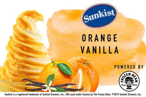 Sunkist Orange Vanilla Soft Serve Sorbet