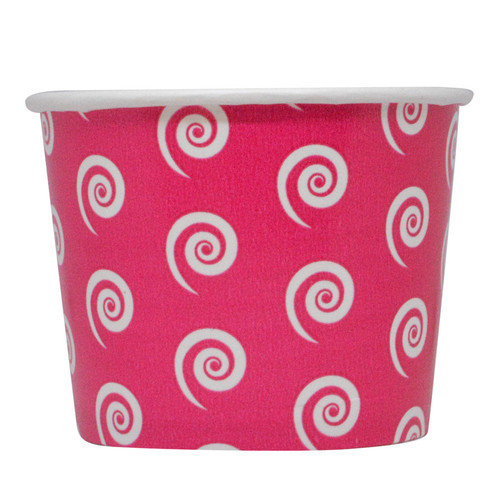 12oz Swirl & Twirl Ice Cream Cups - Pink - Made In The USA